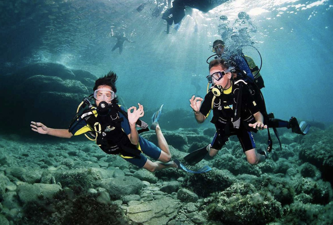 Scuba diving (beginners)